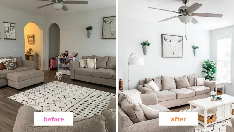 Online Interior Design Help for Modern Farmhouse Living Room